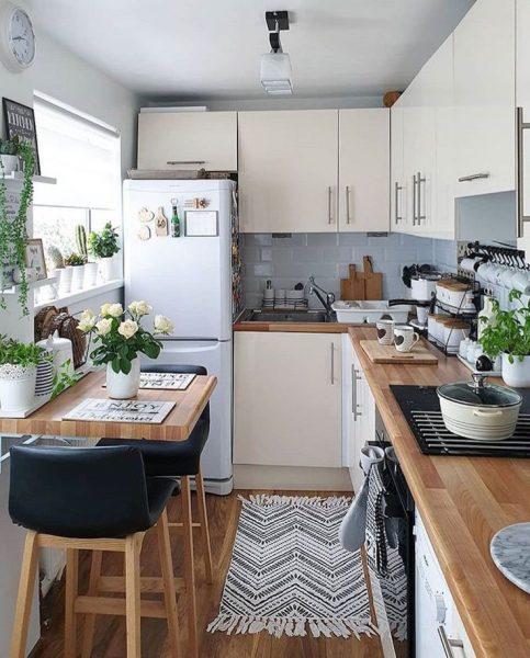 Küçük mutfak dekorasyonları